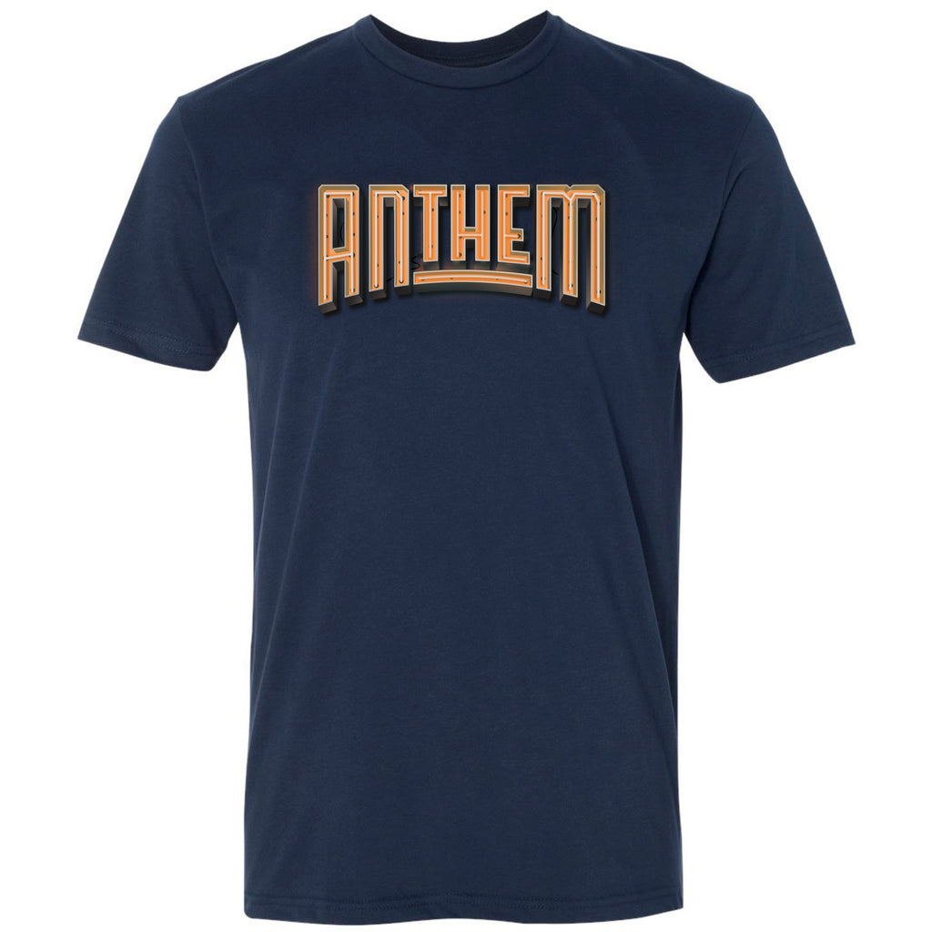The Anthem Neon Logo Tee - Orange