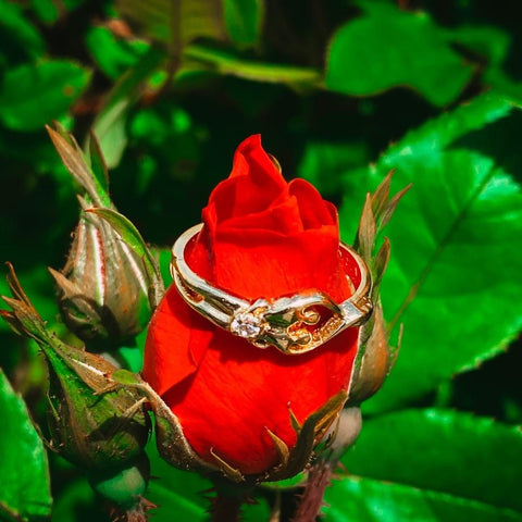 soulmate ring symbolizing love with cubic circonia