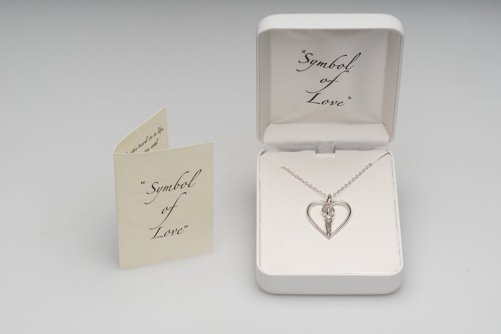 Symbol of Love box, booklet card genuine Sterling Silver Soulmate necklace