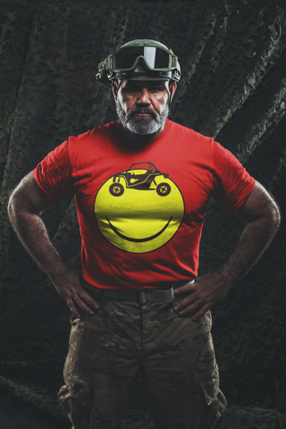 Smiley Side by Side - Guys Tee