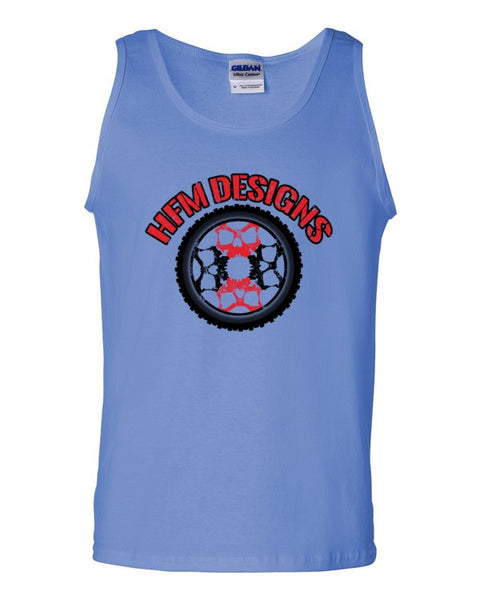Big Wheel Skully Red - Guys Tanks