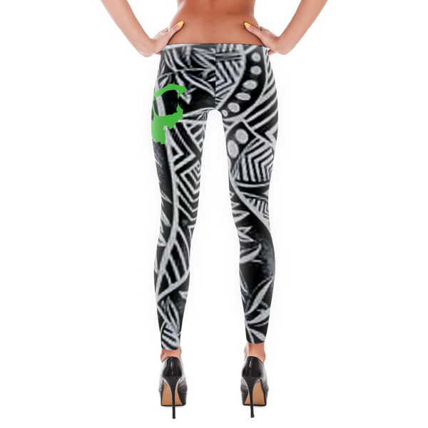 Black and White Tribal - Leggings