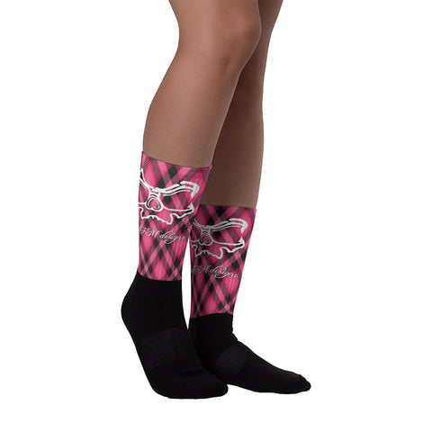 Pink Plaid Socks - ExtraZ