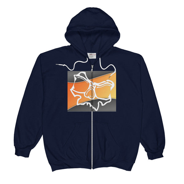 Skully Sunset - Zip up GuyZ HoodieZ