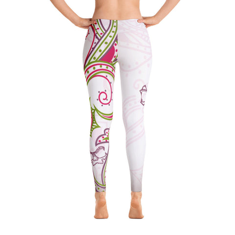 Floral Skully - Leggings