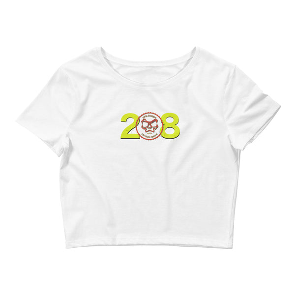 The 208 yell Crop - Girls T