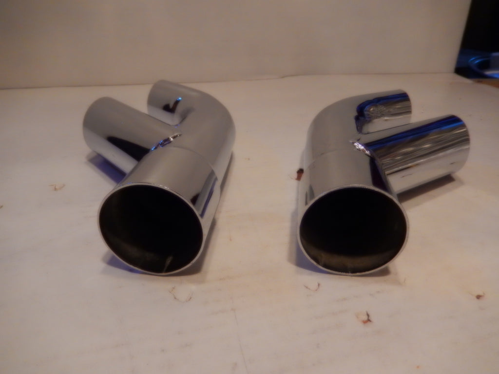 ANSA OEM Vintage Pair of Twin Side Pipes