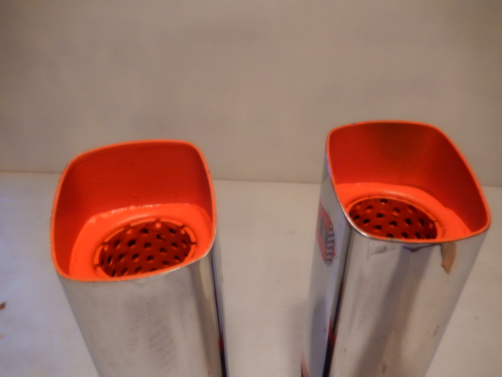 Ferrari ANSA Vintage Pair of NOS Square Exhaust Tips Typo TQ5127