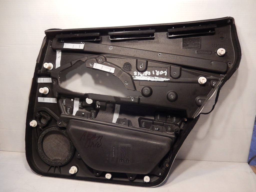 Maserati Quattroporte M-139 OEM Black / Gray Rear Drivers Interior Door Panel