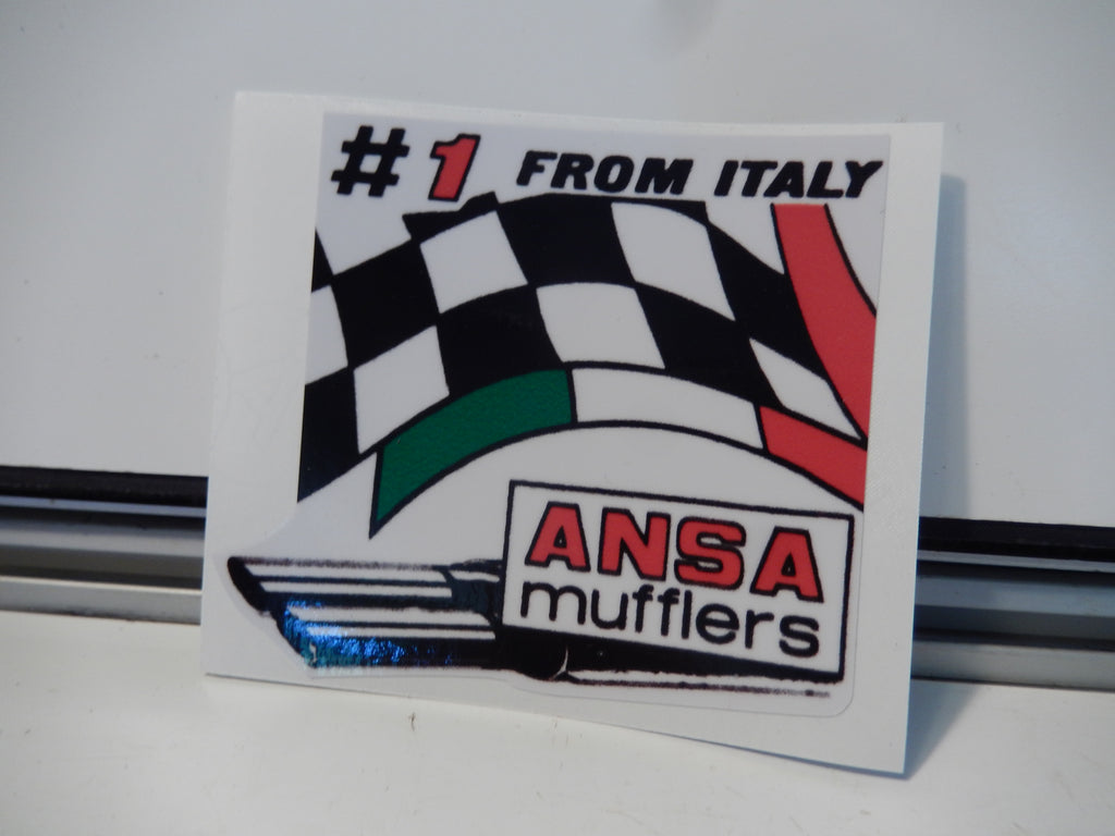 "ANSA OEM Type Tip Sticker  "" Number 1 From Italy """