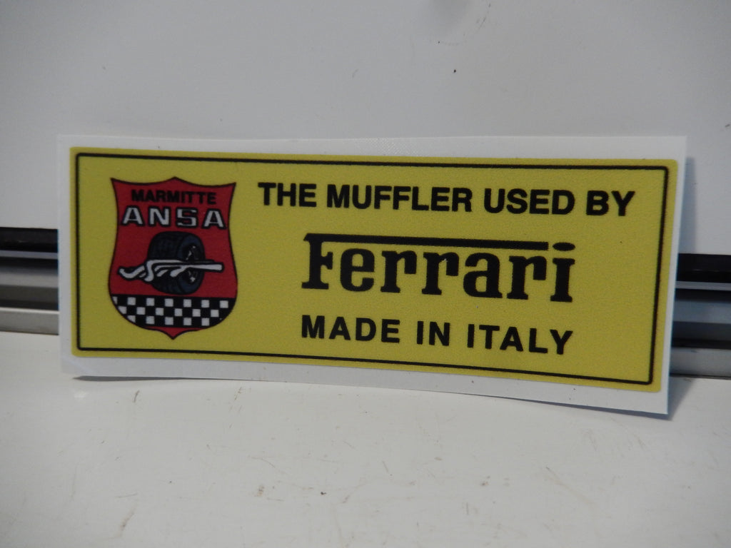 "ANSA OEM Type Tip Sticker  "" The Muffler Used by Ferrari """