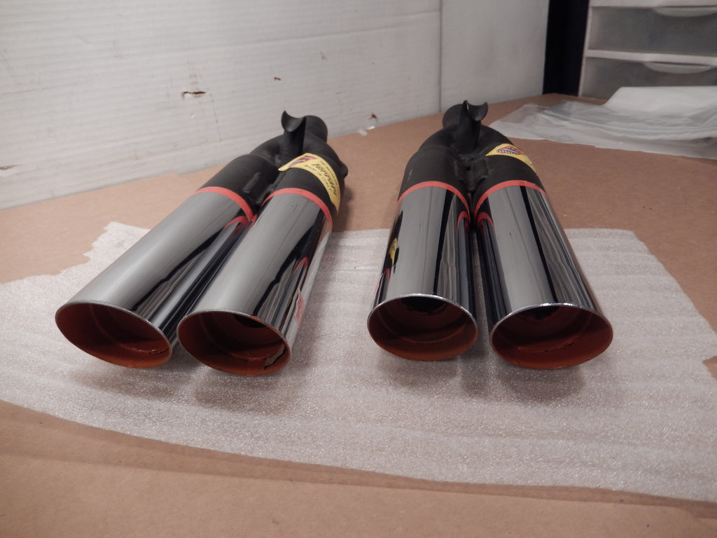 ANSA OEM NOS Pair of Twin Slant Cut Exhaust Tips