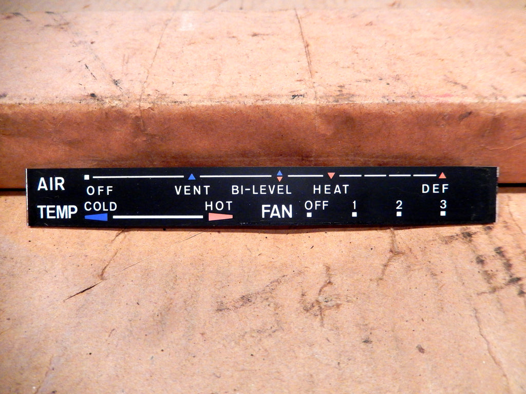Datsun 280Z Climate Control Graphics Bar