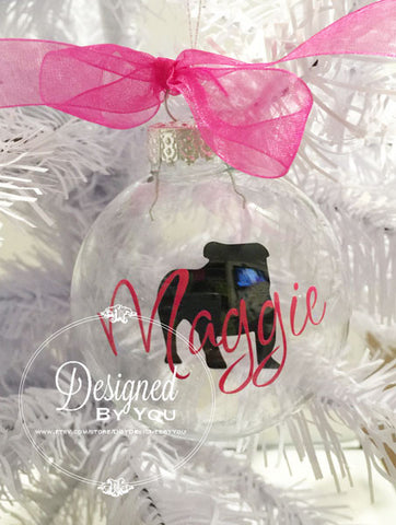 Personalized Floating English Bulldog Ornament