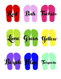 Dog Breed Sandals/Flip Flops - 4 Breeds and 9 Colors!