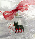 French Bulldog Christmas Ornament - Personalized