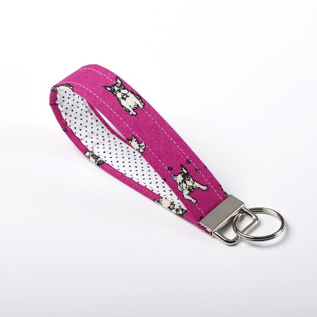 Boston Terrier/French Bulldog Key Fob