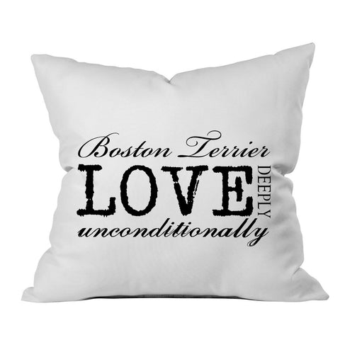 Unconditional Love Pillow - All 4 Dog Breeds!