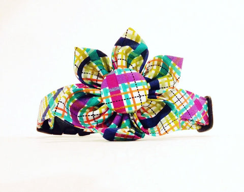 Pretty in Plaid Bulldog Collar