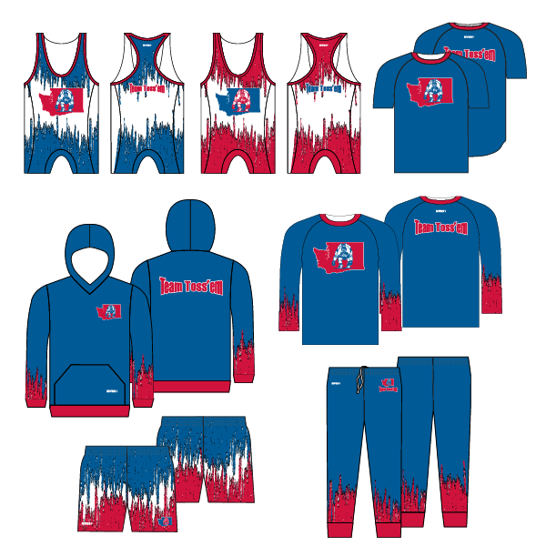 Team Toss 'em Wrestling Package 1 Reversible