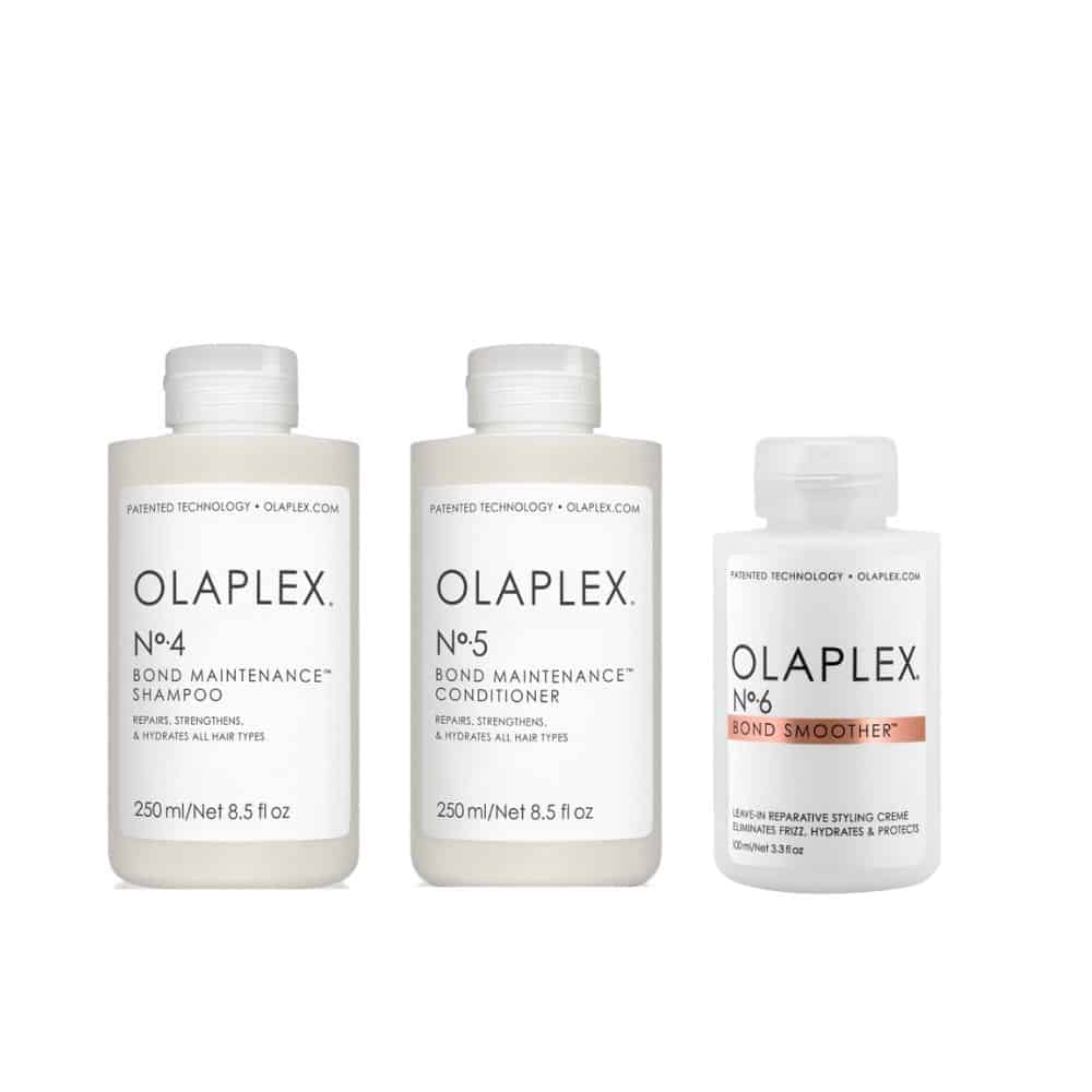 Olaplex Shampoo, Conditioner & No.6 Bond Smoother Pack