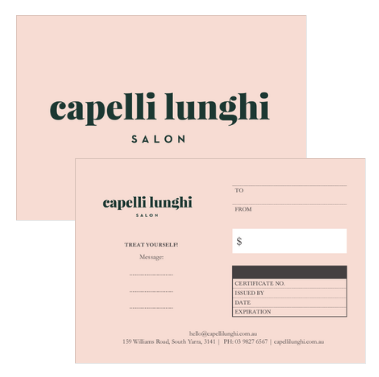 Capelli Lunghi Gift Cards