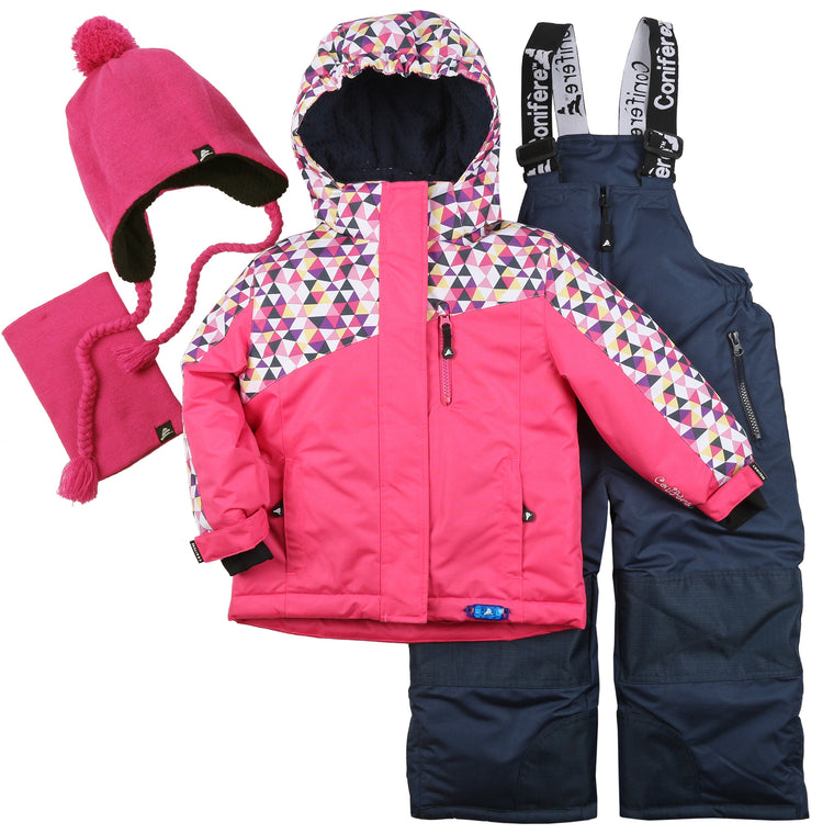 Infant & Toddler Girl's Snowsuit Set