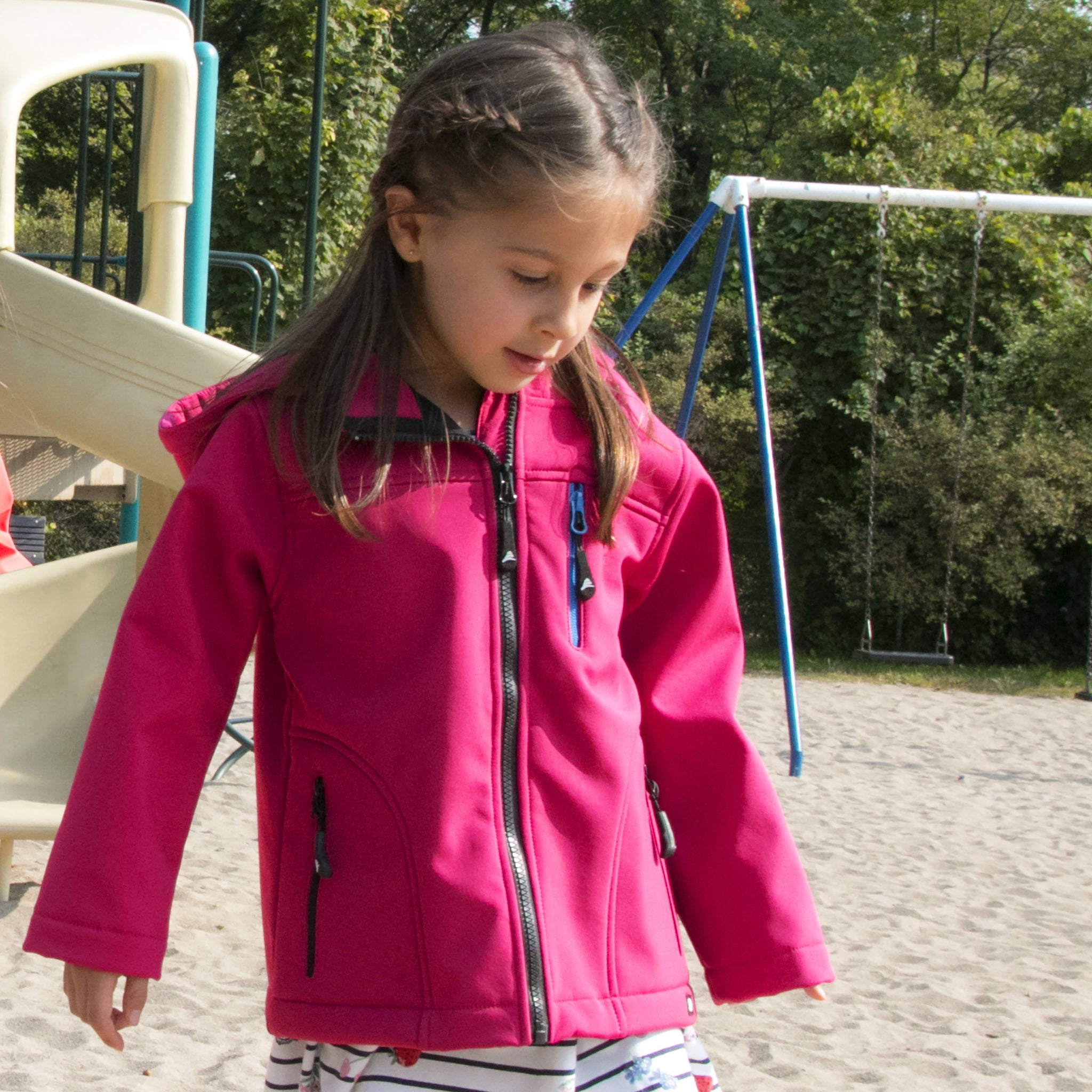 9efbed65742e Girl s Soft Shell Jacket - Conifere