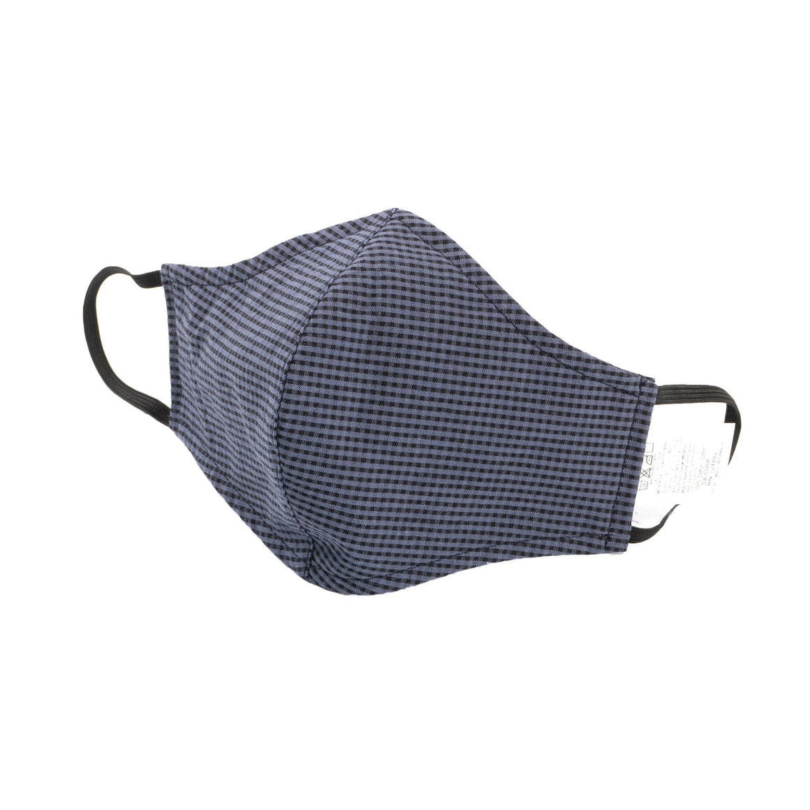 Adult Protective Face Mask - Gingham Check Blue/Navy