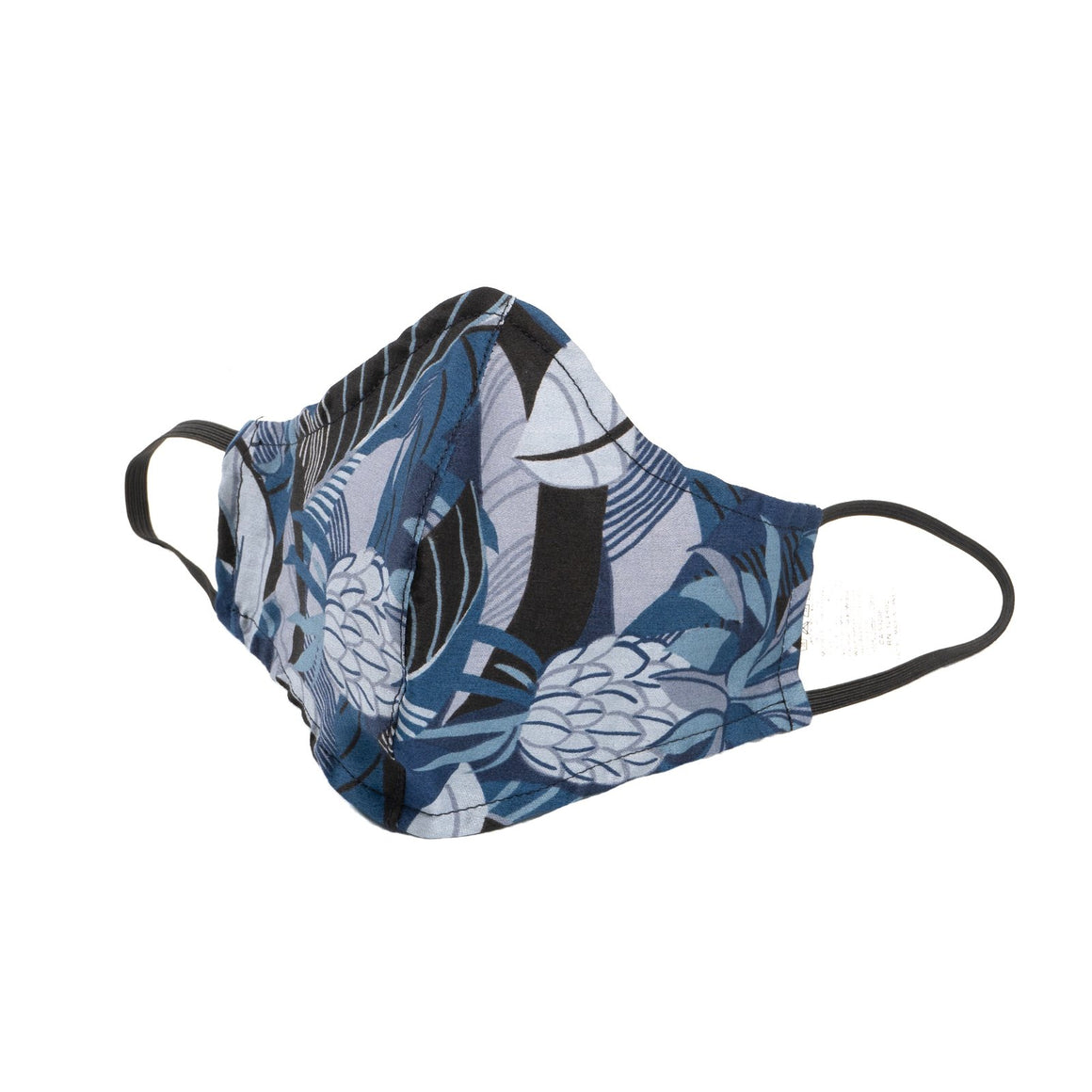 Adult Protective Face Mask - Blue Tropical Print