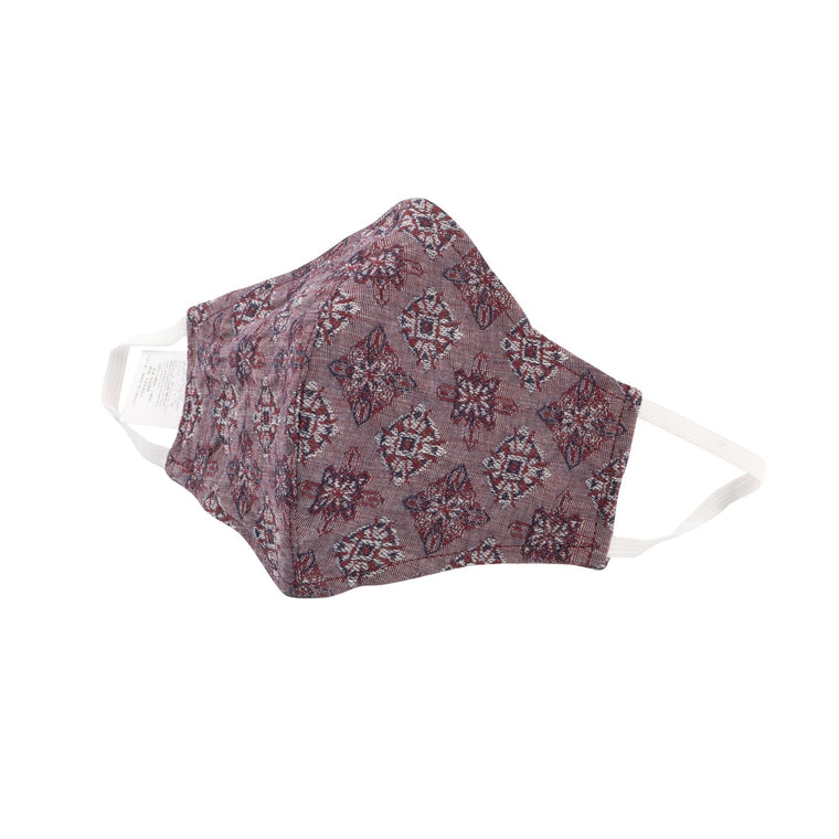 Adult Protective Face Mask - Jacquard Medallion Red