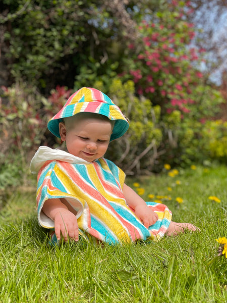 Lucy and Sam Kids Baby Towelling Robe Beach