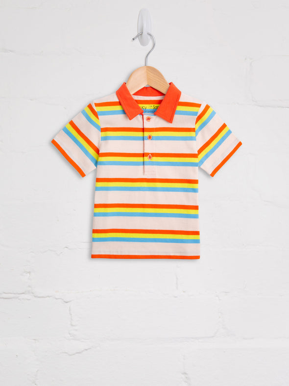 80's Stripe Polo - cool baby clothes by lucy & sam