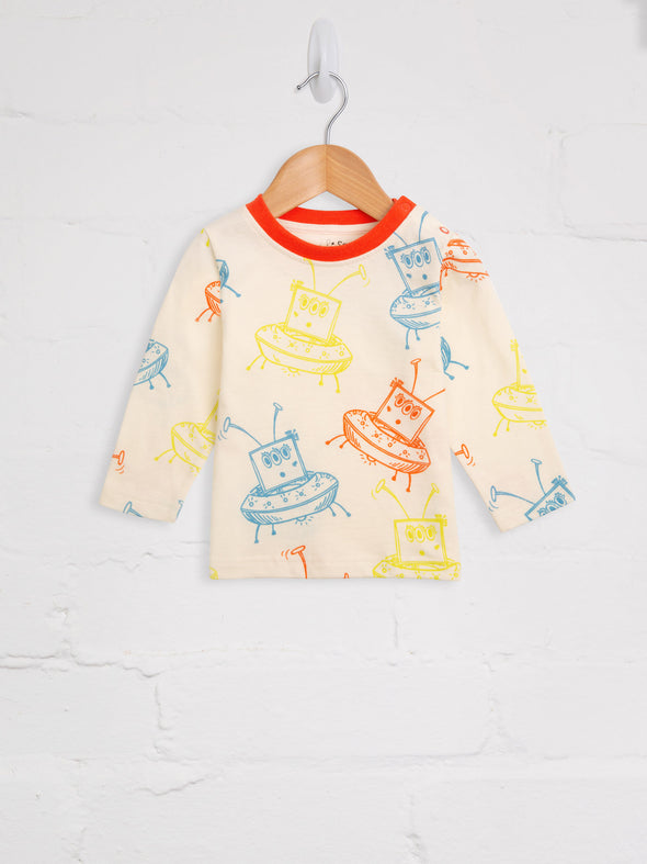 Alien Spaceship Tee - cool baby clothes by lucy & sam