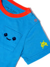 Turquoise Pixel Madness Tee - cool baby clothes by lucy & sam