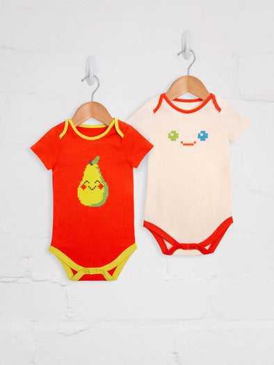 Pixel Madness 2 Pack Bodies - cool baby clothes by lucy & sam
