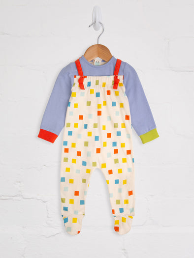 Pixel Ribbon Romper - cool baby clothes by lucy & sam
