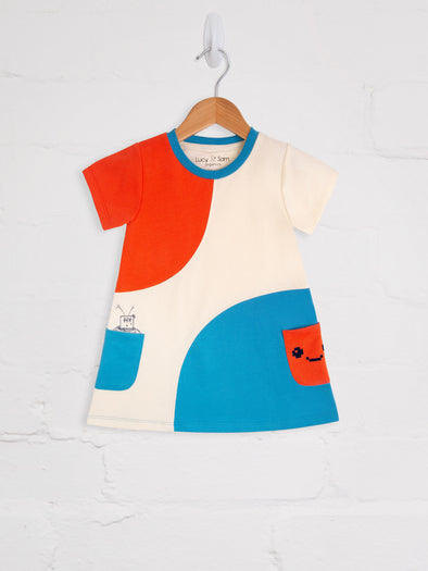 Pixel Madness Sweat Dress - cool baby clothes by lucy & sam