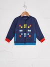 Navy Space Invader Tracksuit - cool baby clothes by lucy & sam