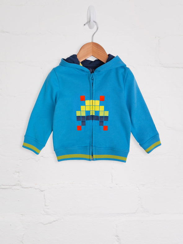 Space Invader Turquoise Tracksuit - cool baby clothes by lucy & sam