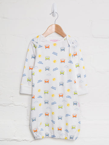 Camper van baby boy sleep gown
