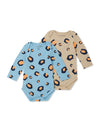 Leopard 2 Pack Baby Bodysuits - cool baby clothes by lucy & sam