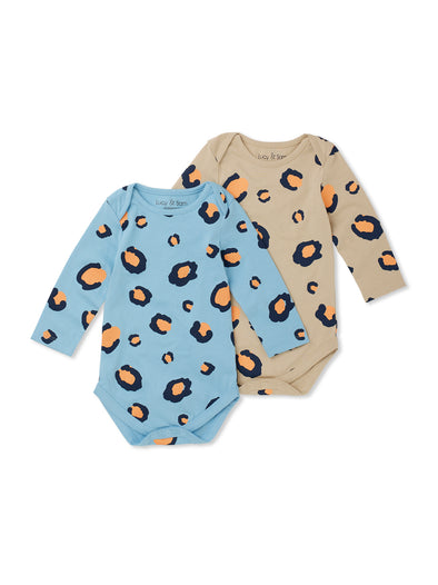 Leopard 2 Pack Baby Bodysuits