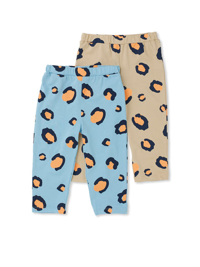 Leopard Print 2 Pack Leggings - cool baby clothes by lucy & sam