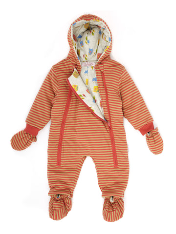 Lucy & Sam Khaki and Coral Pramsuit