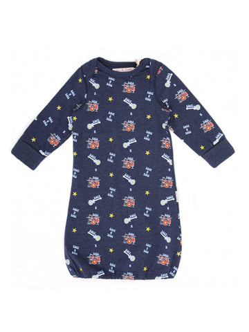 Rock n Roll baby boy blue marl Sleepgown