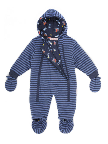 Lucy & Sam Indigo and Blue Marl Pramsuit