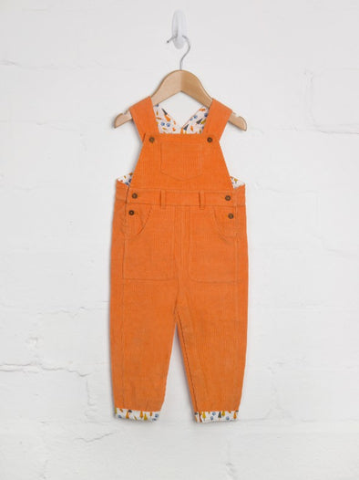 Orange Cord Dungarees - cool baby clothes by lucy & sam
