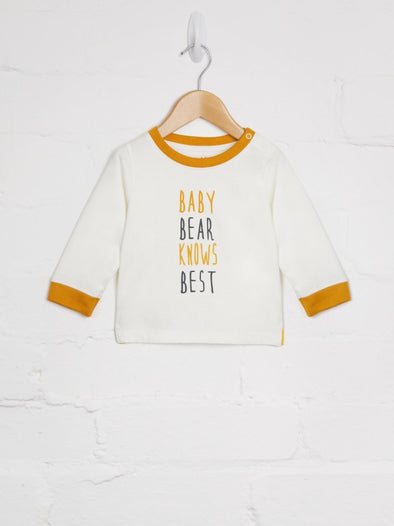 Baby Bear Knows Best Tee - cool baby clothes by lucy & sam