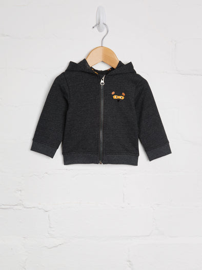 Bear Hugs Charcoal Hoody - cool baby clothes by lucy & sam
